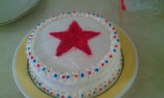 Very first cake I made.   Fourth Of July 2012