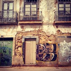 Olhao, Portugal. An abandoned hotel in a small fishing village. Circa Summer Vacation 2013.