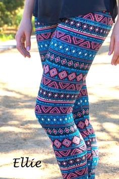 Step out and get noticed in these beautiful printed leggings.  These head-turning leggings comes in Stunning Fall prints - from floral to tribal to geometric.  The stretchy, soft fabric and elasticated waistband makes it very comfy to wear all day long.  Available in 6 different patterns. Please refer to the pictures for the style you'd want.