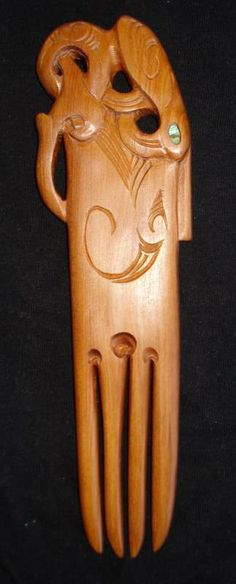 Heru wooden comb, traditionally worn by high ranking members of the Maori tribe.