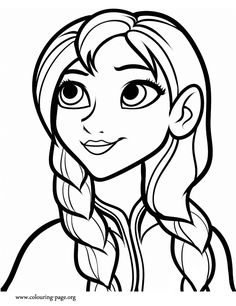 disney frozen princess anna coloring page