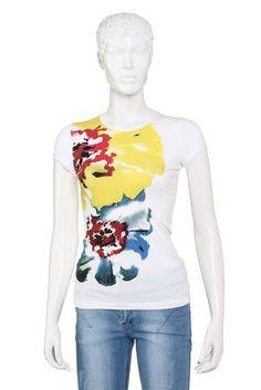 Women's T - shirt in White - S12EXWT001