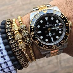 #WristGame with the two tone Rolex GMT Master II from @LuxuriousBaller✨  #LoveWatches