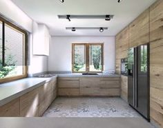 Aranżacje wnętrz - Kuchnia: (Będzin) Projekt domu jednorodzinnego 4 - Duża otwarta kuchnia w kształcie litery g, styl nowoczesny - BAGUA Pracownia Architektury Wnętrz. Przeglądaj, dodawaj i zapisuj najlepsze zdjęcia, pomysły i inspiracje designerskie. W bazie mamy już prawie milion fotografii!
