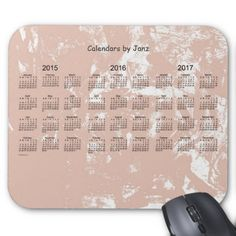 2015-2017 3 Year Calendar Mouse Pad