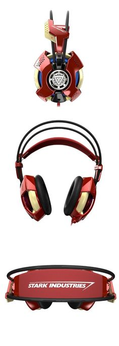 They don't look very comfortable, but they look cool. // Iron Man #Headset http://gizmosandgadgets.org/iron-man-headset/