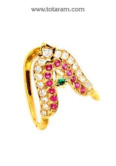 Totaram Jewelers: Buy 22 karat Gold jewelry & Diamond jewellery from India: Vanki Rings
