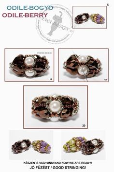 ODILE Berry Beaded Bead. Page 4 of 4. Free tutorial by Ewa Design.