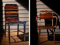 Idea fai da te: rivestire le sedie con cinture vintage   Fare casa