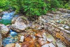 Qdiz Stock Photos | River in mountain forest in Korea,  #forest #green #Korea #landscape #mountain #national #nature #park #River #rock #South #stone #tree #water #wild