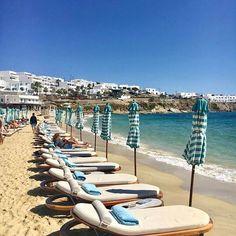Mykonos, Psarou Beach - Phot via @otacosta . . . . #greece #mykonos #nammos #travel #beach #summer #wanderlust #vacation #instatravel #travelgram