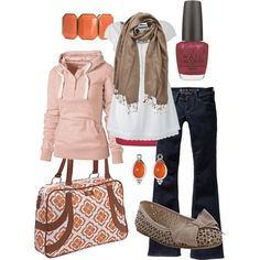 pink & orange, created by #htotheb on #polyvore. #fashion #style Fat Face Tom Tailor Denim