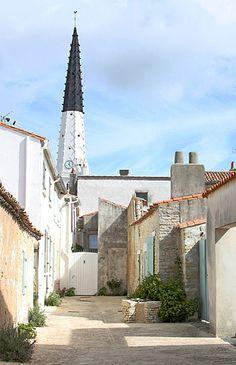 ile de ré vue du haut du clocher de saint martin de ré la