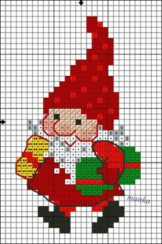 Santa Cross Stitch, Cross Stitch Cards, Beaded Cross Stitch, Cross Stitch Borders, Crochet Cross, Counted Cross Stitch Patterns, Cross Stitch Designs, Cross Stitching, Cross Stitch Embroidery