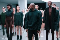 Kanye West takes his bow at the Kanye x adidas AW15 show at NYFW. See more here: http://www.dazeddigital.com/fashion/article/23612/1/kanye-drops-a-new-track-with-sia-listen-here