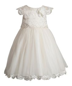 Might be cute for Emily for the weddings! Loving this Kleinfeld Pink Ivory Erica Dress - Toddler & Girls on #zulily! #zulilyfinds