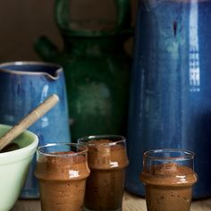 Chocolate, Stout and Brown-Sugar Mousses