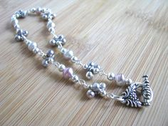 Beach Bling Silver Balls and Pink to Gray by joyaslindas3 on Etsy, $29.99