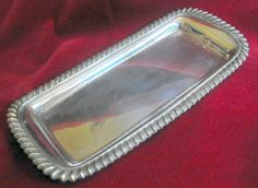S6926 £SOLD Vintage silver plated pen tray 8.75in