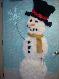 Christmas office door