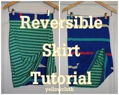 mommy is coo coo: How to Make A Reversible Skirt