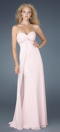 pink gown chiffon