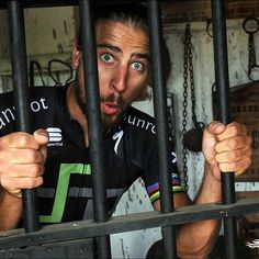 Peter Sagan: I felt inspired by everybody during our charity ride and got carried away. The California Highway Patrol pulled me over for speeding on my new Iamspecialized bike! @veloimages