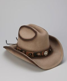 Look what I found on #zulily! Sand Yearling Wool Cowboy Hat #zulilyfinds