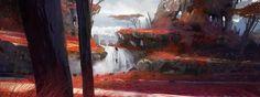 Redlands, Titus Lunter on ArtStation at https://www.artstation.com/artwork/QrJV4