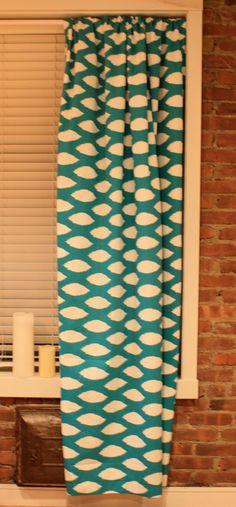 Custom Geometric curtains, via Etsy.