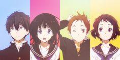 hyouka ^^ friends only Anime Couple Kiss, Cute Anime Couples, Anime Manga, Anime Art, Tamako Love Story, Okuda, Anime Group, Kyoto Animation, Hyouka