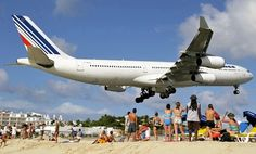 st maarten's Low flying plane Landings martins' Low planes Landing | maho st maarten airport beach 3 Plane Spotting, Caribbean Style