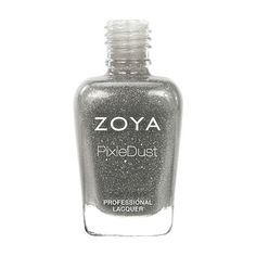 Zoya London PixieDust Nail Polish | London by Zoya can be best described as a fog gray with a sugared sparkle, in the exclusive Zoya PixieDust Matte Sparkle formula. | PixieDust | Intensity: 5