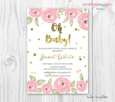 Hey, I found this really awesome Etsy listing at https://www.etsy.com/listing/469077489/watercolor-pink-and-gold-baby-shower