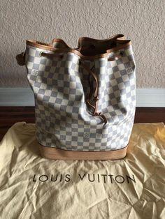 e32277a2b77b Authentic Louis Vuitton Noe Damier Azur  purses  fashion   Louisvuittonhandbags