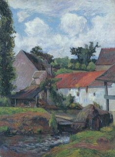 Farm in Osny, 1883 Paul Gauguin