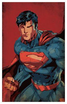 Superhero Poster Set of 4 wall decor 11 x 17 by PropagandaPrints