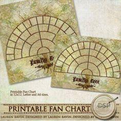 Fan Chart style family tree