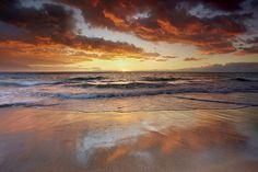 Mango Skies - Hapuna Beach, Big Island, Hawaii by PatrickSmithPhotography, via Flickr