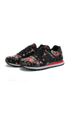timeless design caffd 6d057 New Balance Running Shoes NB574 Retro Mesh Black Red Womens