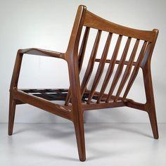 Mid-century Danish modern Ib Kofod-Larsen lounge chair