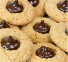 Peanut Butter Chocolate Thumbprints. Only 1.8g net carbs and oh-so-delicious!