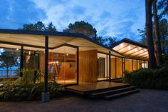 Ample glazing allows for views straight through the structure. Tagged: Doors, Swing Door Type, Wood, and Exterior. Photo 13 of 15 in A Small Guatemalan Hut Gains a Thoughtful Glazed Expansion. Browse inspirational photos of modern doors and entryways. Cabana, Jungle Life, Modern Door, Types Of Doors, Terrace Garden, Contemporary Interior, Architecture Details, Interior And Exterior, Cottage