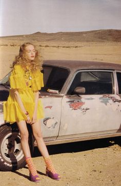 Siri Tollerød in Desert Rose, photographed by Venetia Scott for VOGUE UK May 2008