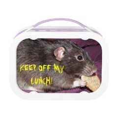 'keep off my lunch' rat lunch box