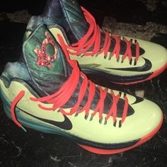 the latest 63943 47cd3 Nike Shoes   Nike Kd 5s Area 72 All Star   Color  Green Orange   Size  9.5
