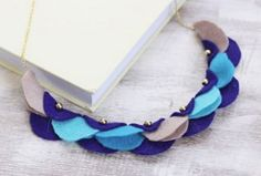 Wondrous Wearable Garland: Christmas trees have been out since Halloween, so don't be afraid to show your holiday spirit a little early. This silver, blue, and purple DIY necklace is a must-have for the winter season.