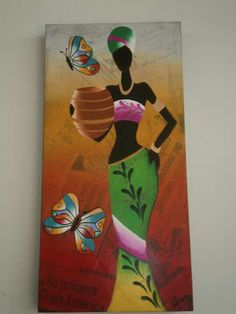 Negras African Artwork, African Art Paintings, Worli Painting, Fabric Painting, Indian Folk Art, Africa Art, Black Artwork, Krishna Art, Mural Art