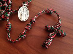 St Nicholas Christmas Knotted Cord Rosary by georgiegirl83 on Etsy, $10.00