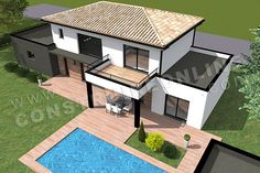 plans of houses architecture Modern House Floor Plans, Sims House Plans, Concept Architecture, Modern Architecture, Concept Home, Open Concept, Sims 4 House Design, Casas The Sims 4, Home Building Design